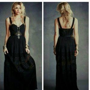 Free people Jill special edition black maxi dress